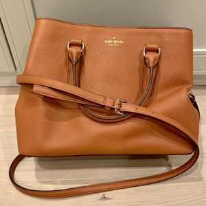 Kate Spade leather cognac color Handbag 👜